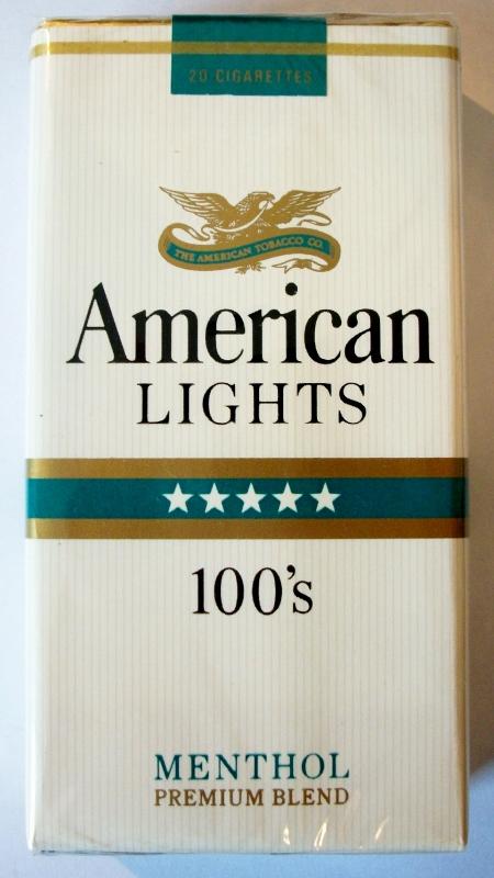 American Lights Menthol - vintage American Cigarette Pack