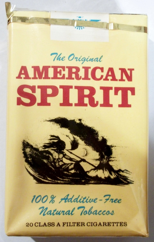 American Spirit: The Original, Filter - vintage American Cigarette Pack