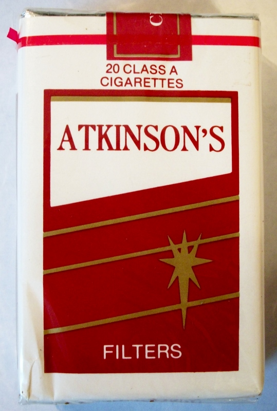 Atkinson's Filters, King Size - vintage American Cigarette Pack