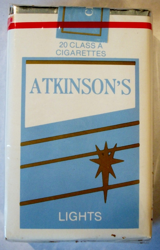 Atkinson's Lights, King Size - vintage American Cigarette Pack