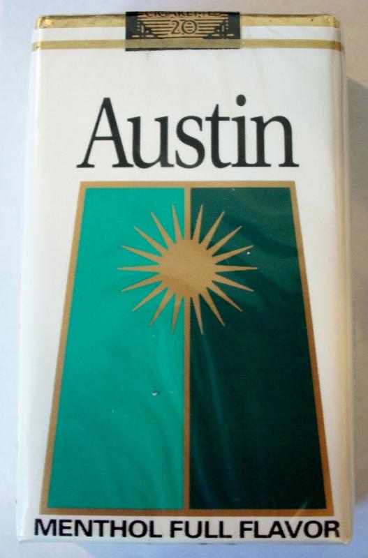 Austin Menthol Full Flavor, King Size - vintage American Cigarette Pack