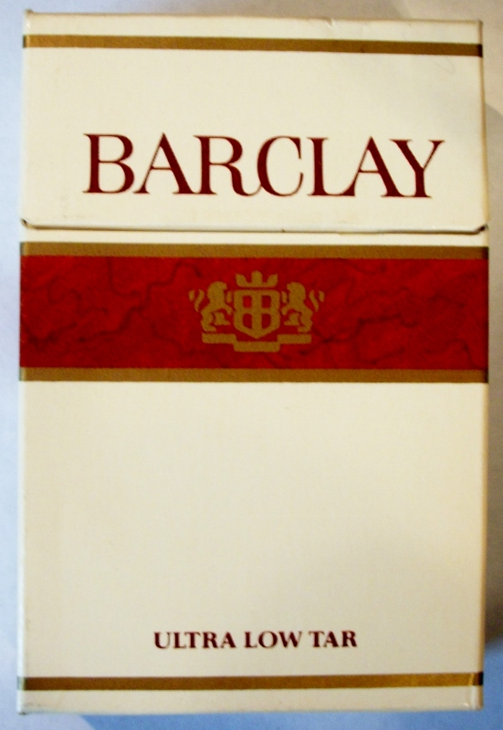 Barclay Ultra Low Tar, King Size - vintage American Cigarette Pack