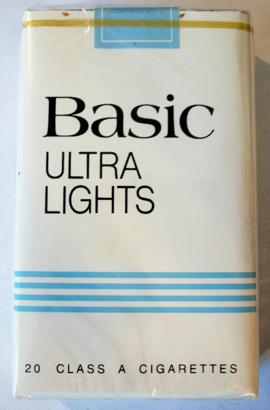 Basic Ultra Lights King Size - vintage American Cigarette Pack