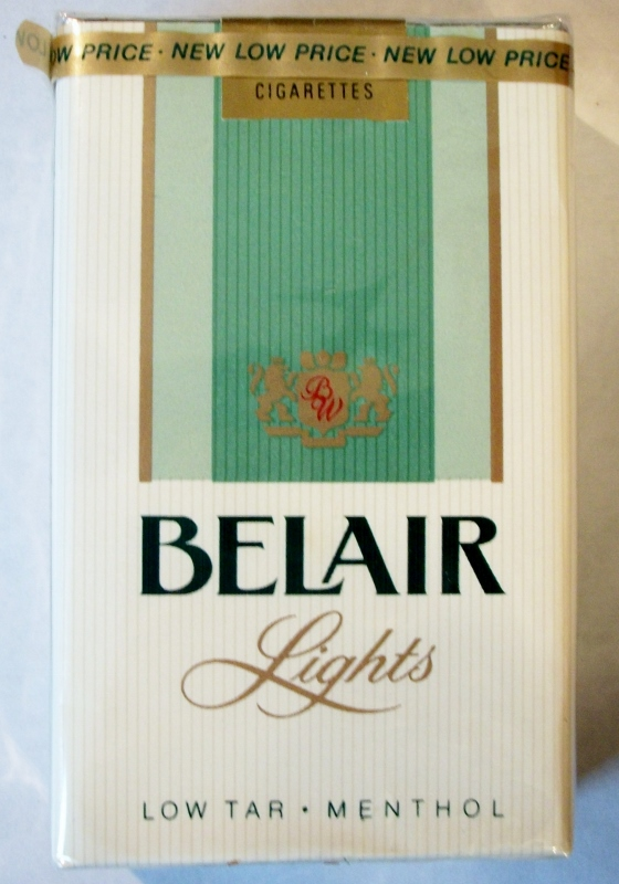 Belair Lights Menthol King Size - vintage American Cigarette Pack