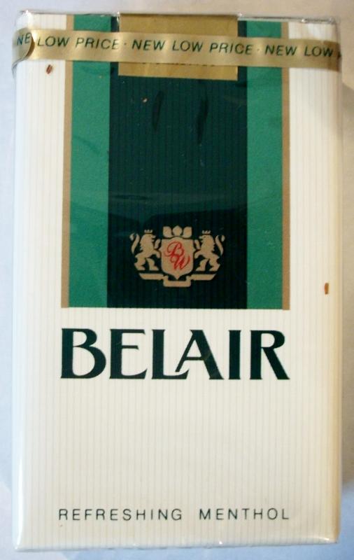 Belair Refreshing Menthol King Size - vintage American Cigarette Pack
