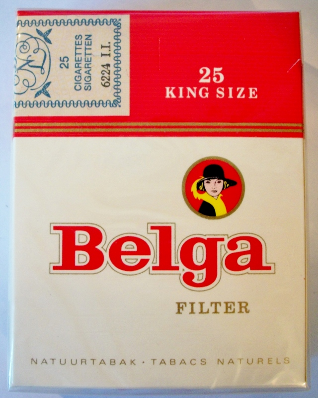 Belga Filter Natuurtabak, King Size - vintage Belgian Cigarette Pack