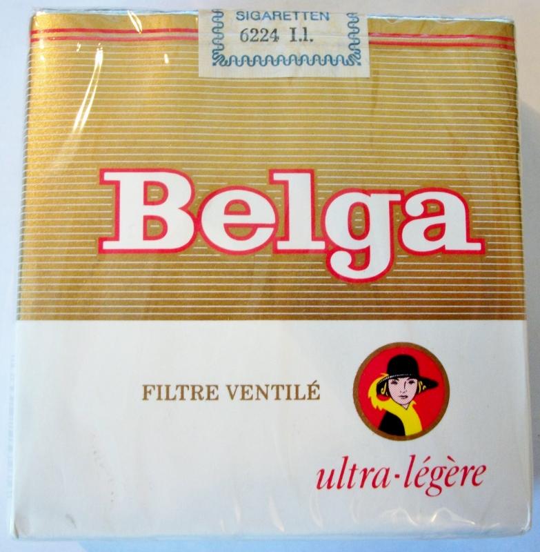 Belga Ultra Licht Geventileerde Filter 70mm - vintage Belgian Cigarette Pack