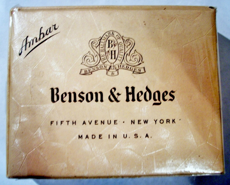 Benson & Hedges Ambar 1949 - vintage American Cigarette Pack