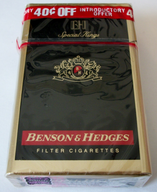 Benson & Hedges Special Kings Filter - vintage American Cigarette Pack