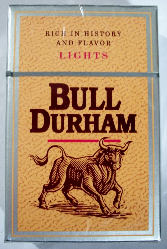Bull Durham Lights box - vintage American Cigarette Pack (version 2)