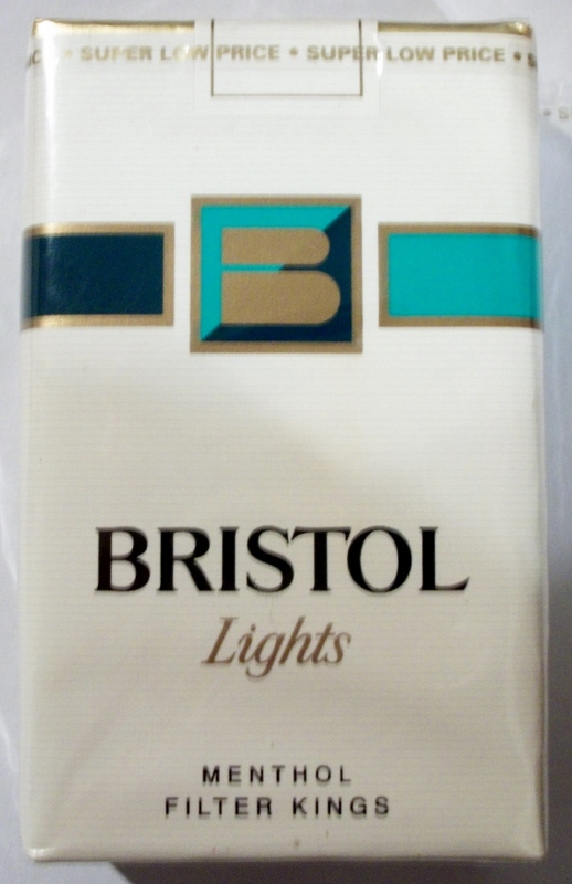 Bristol Lights Menthol, Filter Kings - vintage American Cigarette Pack