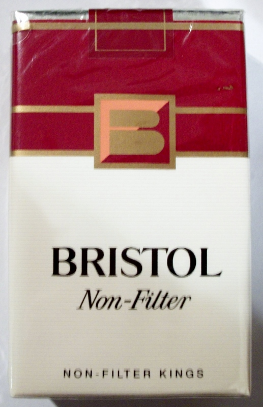 Bristol Non-Filter Kings - vintage American Cigarette Pack