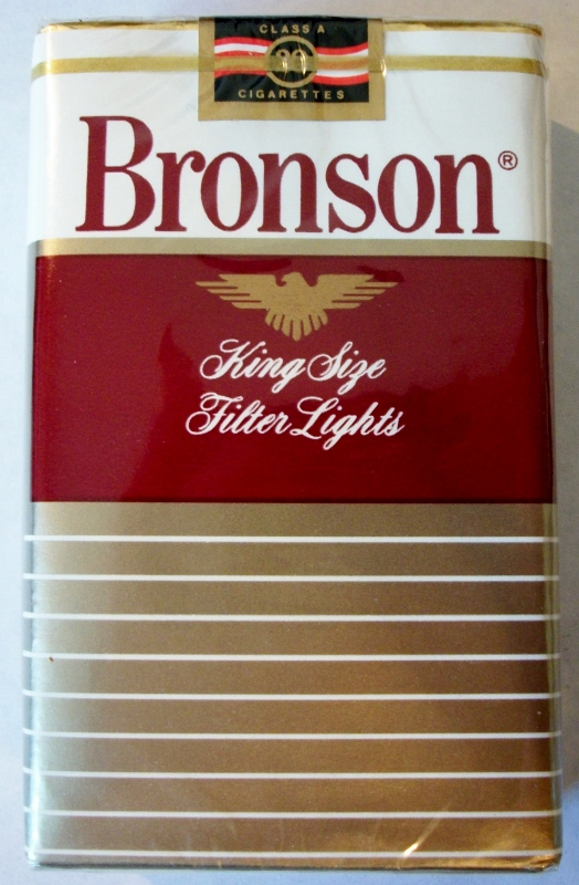 Bronson Filter Lights, King Size - vintage American Cigarette Pack