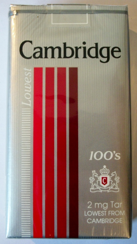 Cambridge Lowest 100's - vintage American Cigarette Pack