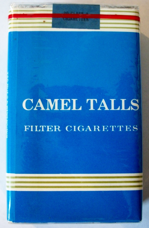 Camel Talls filter king size - vintage R.J. Reynolds Trademark Cigarette Pack