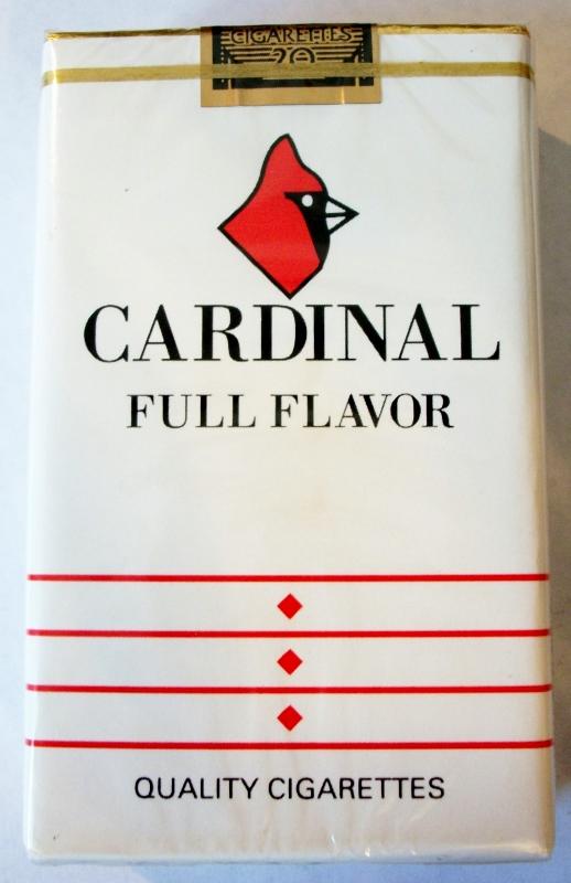 Cardinal Full Flavor, King Size - vintage American Cigarette Pack