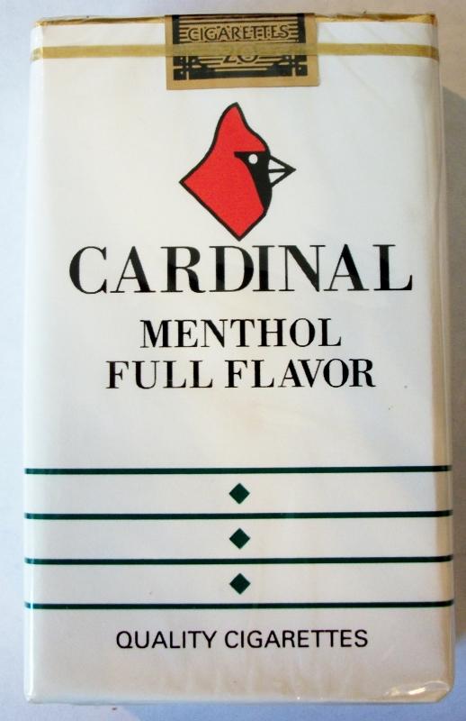 Cardinal Menthol Full Flavor 100mm - vintage American Cigarette Pack