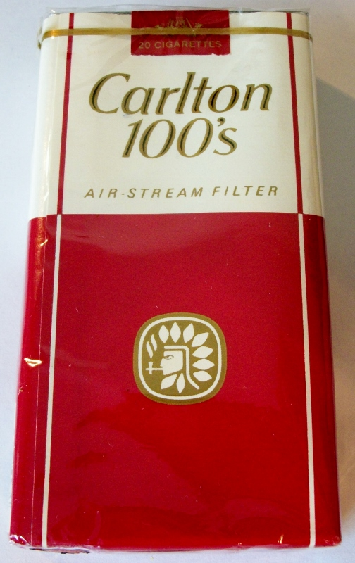 Carlton 100's Air-Stream Filter - vintage American Cigarette Pack