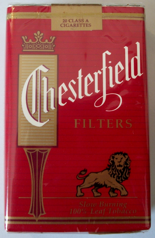 Chesterfield Filters Lion Label, King Size - vintage American Cigarette Pack