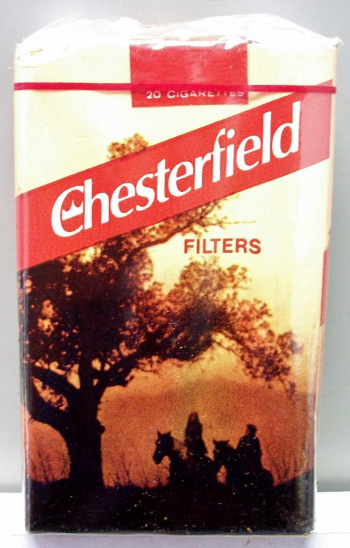 Chesterfield Filters King Size, Horse Scene - vintage American Cigarette Pack