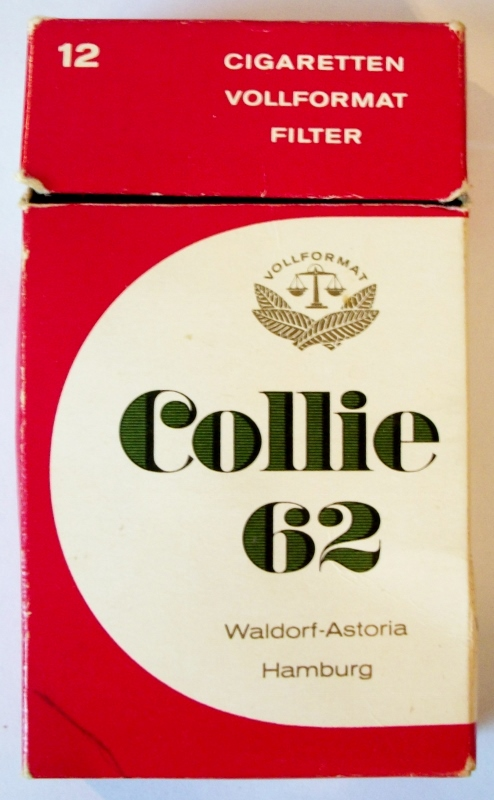 Collie 62 Vollformat Filter, Waldorf-Astoria, Hamburg - vintage German Cigarette Pack