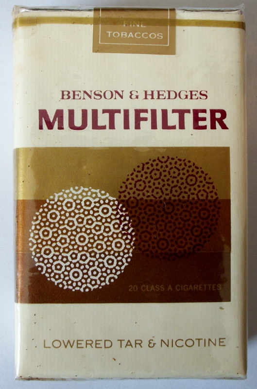 Benson & Hedges Multifilter, King Size - vintage American Cigarette Pack