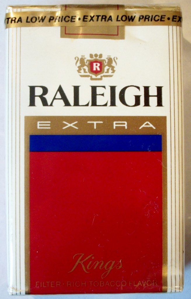 Raleigh Extra King Size - Filter - vintage American Cigarette Pack
