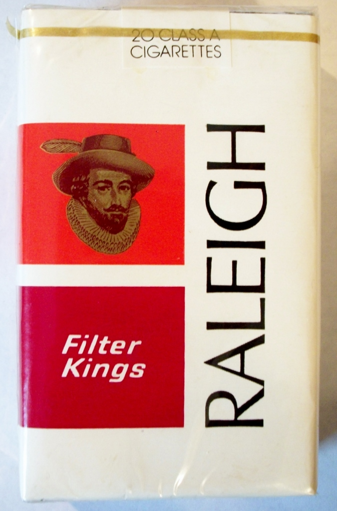 Raleigh Filter Kings with coupon - vintage American Cigarette Pack