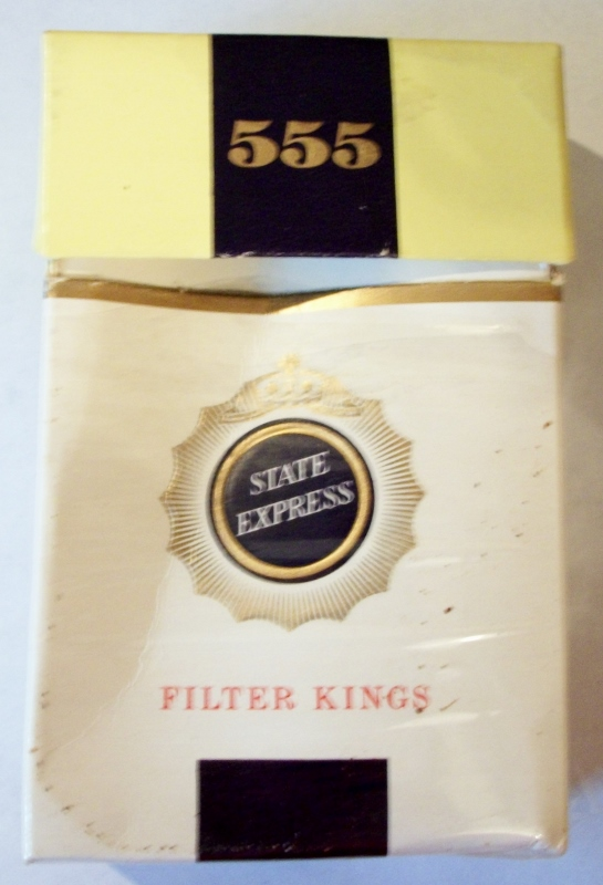 State Express 555 Filter Kings, packaged for BOAC Airline - vintage British Cigarettes