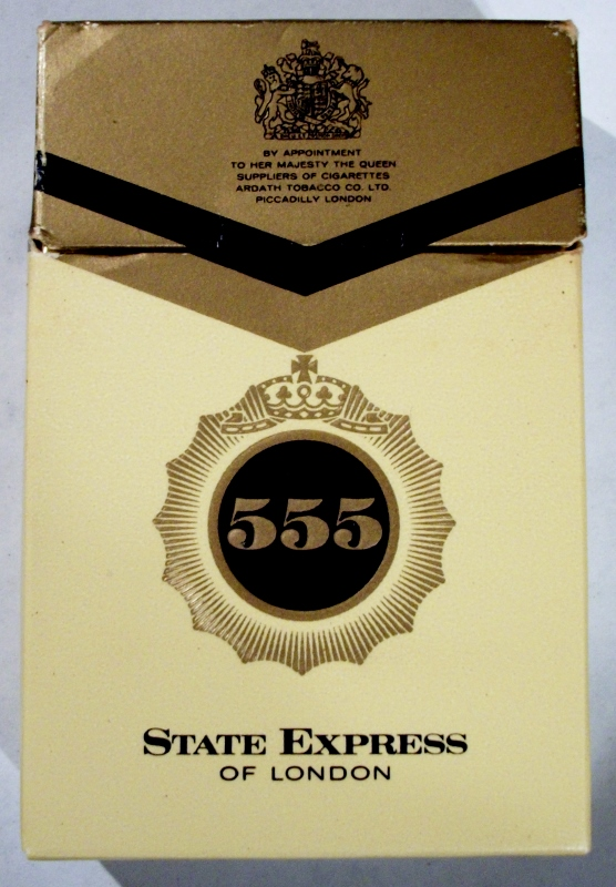 State Express 555 Filter Kings - vintage British Cigarettes