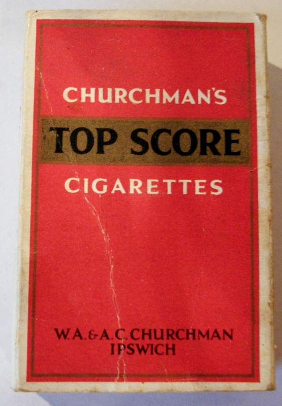 Churchman's Top Score 70mm - vintage British Cigarette Pack