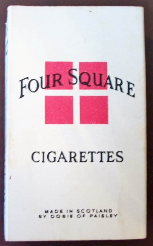 Four Square 70mm - vintage Scottish Cigarette Pack
