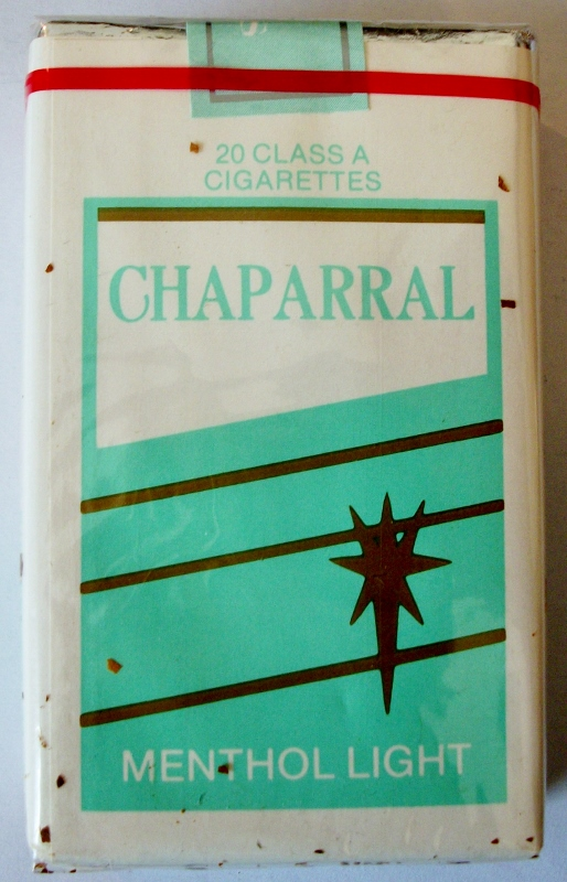 Chaparral Menthol Light, King Size - vintage American Cigarette Pack