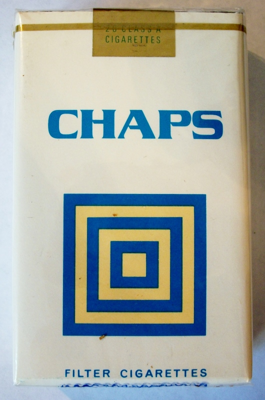 Chaps Filter King Size - vintage B&W Trademark Cigarette Pack