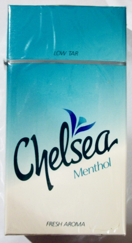 Chelsea Menthol, Fresh Aroma 100mm scratch 'n sniff - vintage American Cigarette Pack