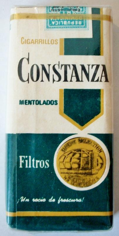 Cigarrillos Constanza Mentolados Filtros 10 - vintage Dominican Cigarette Pack