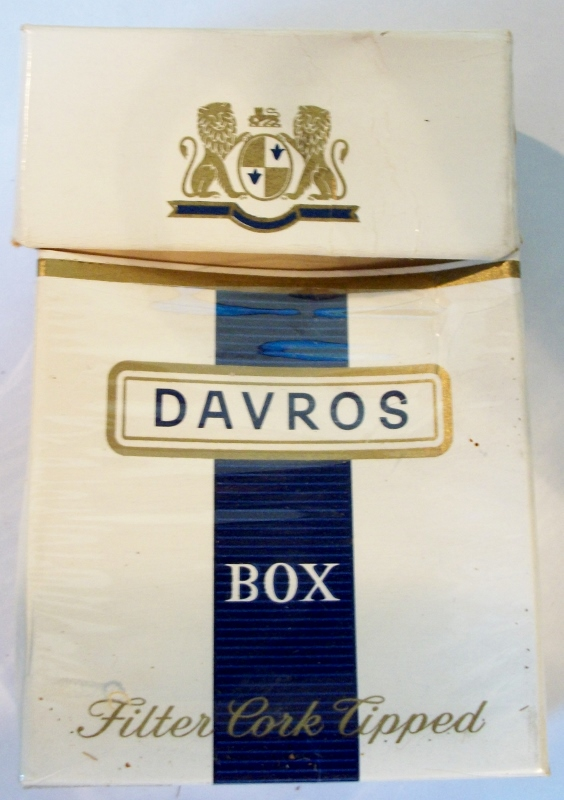 Davros, Filter Cork Tipped - vintage Belgian Cigarette Pack