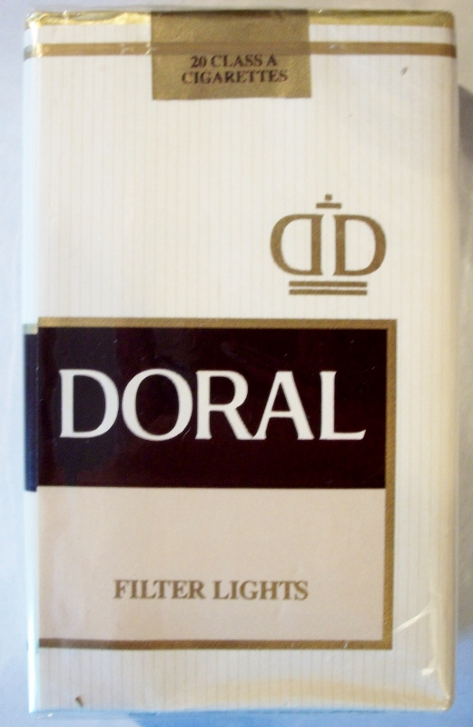 Doral Filter Lights King Size - vintage American Cigarette Pack