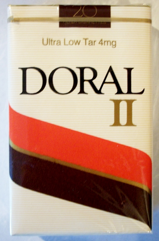 Doral II, King Size, ultra low tar - vintage American Cigarette Pack