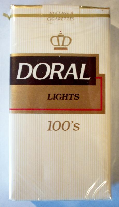 Doral Lights 100's - vintage American Cigarette Pack (version 2)