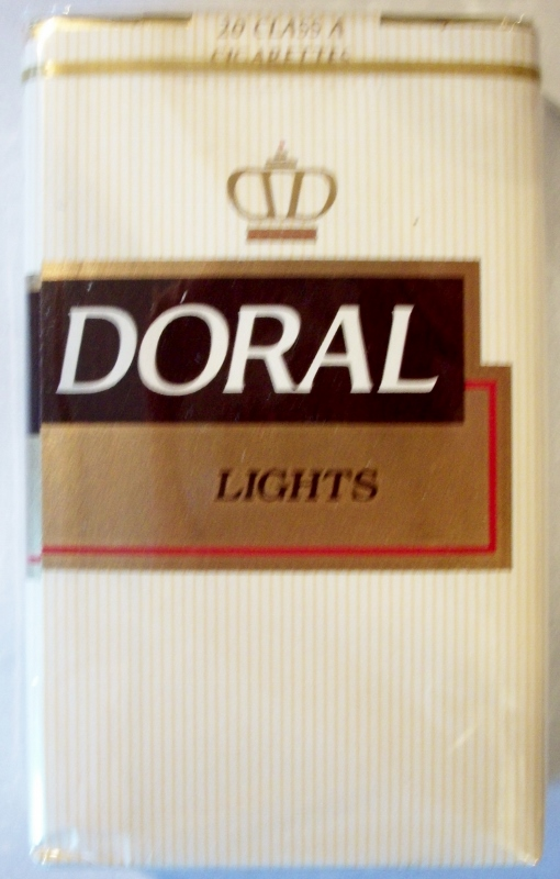 Doral Lights, King Size - vintage American Cigarette Pack