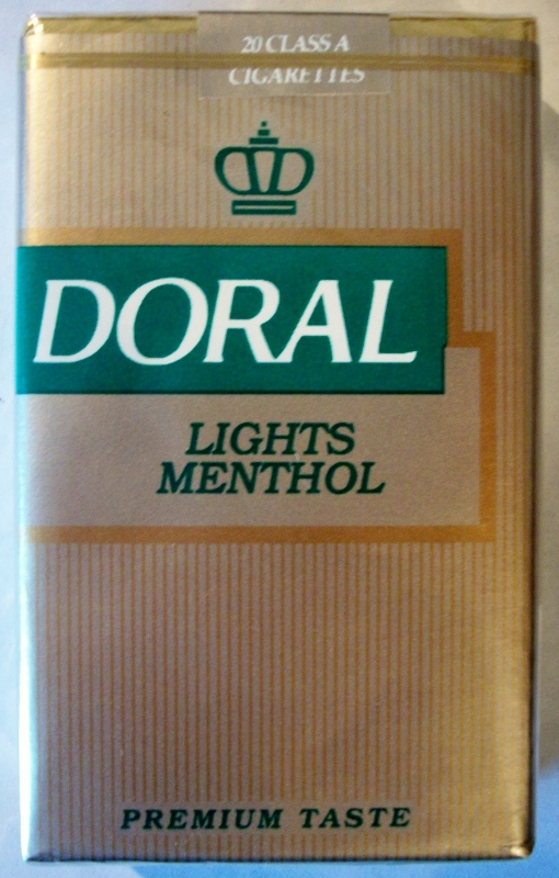 Doral Lights Menthol, Premium Taste, King Size - vintage American Cigarette Pack