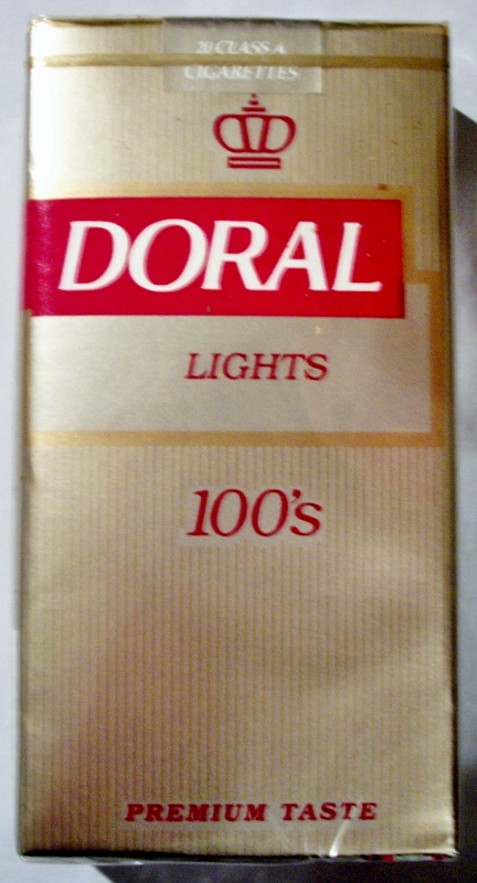 Doral Lights 100's - vintage American Cigarette Pack