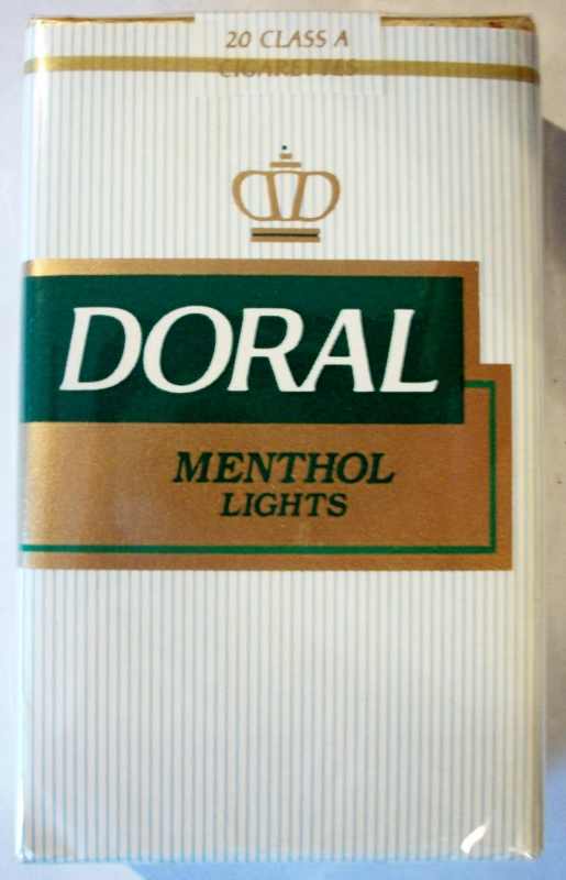 Doral Menthol Lights, King Size - vintage American Cigarette Pack