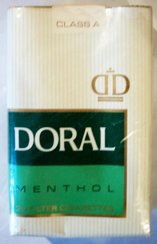 Doral Menthol Filter, King Size - vintage American Cigarette Pack