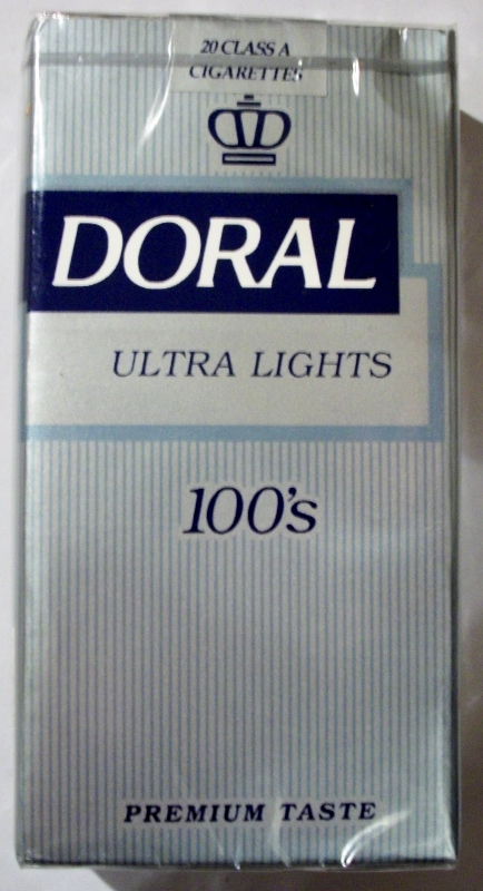 Doral Ultra Lights 100's - vintage American Cigarette Pack