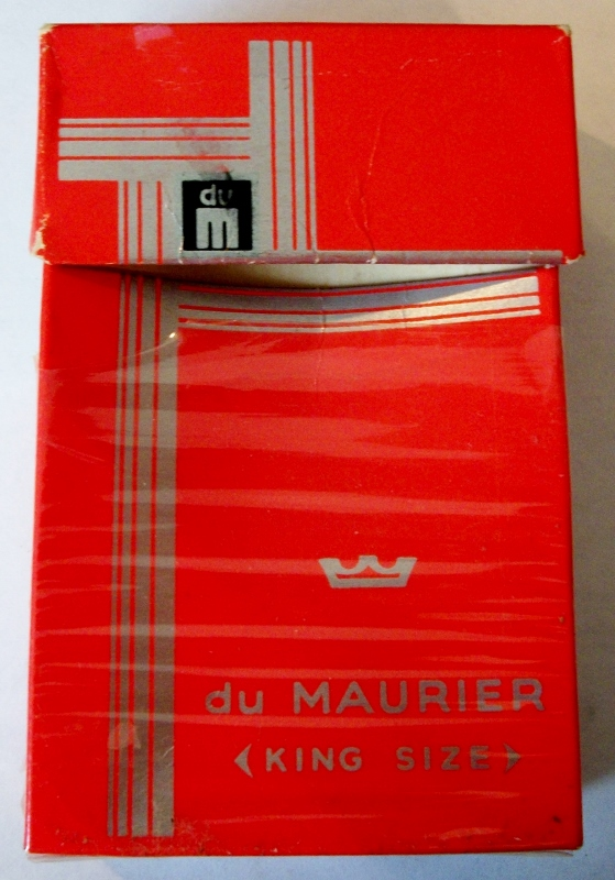 du Maurier, King Size box - vintage Canadian Cigarette Pack