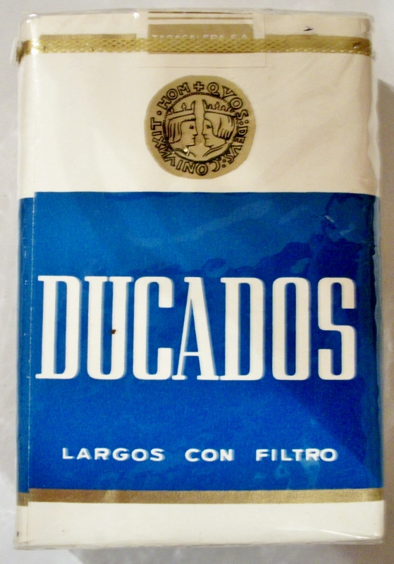 Ducados, Largos con Filtro - vintage Spanish Cigarette Pack (version 2)