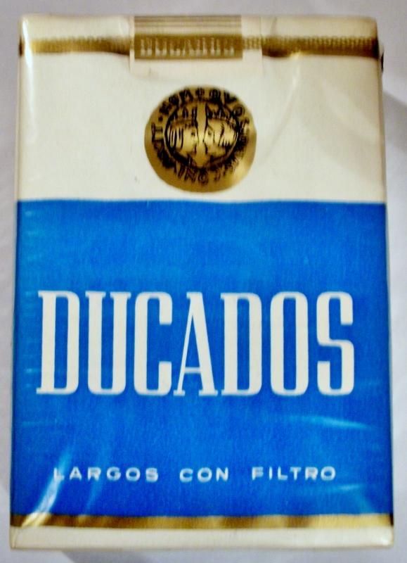 Ducados, Largos con Filtro - vintage Spanish Cigarette Pack
