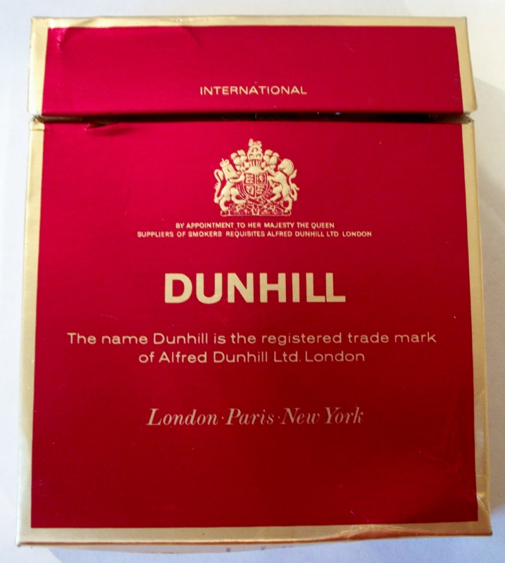 Dunhill International flat box - vintage British Cigarette Pack
